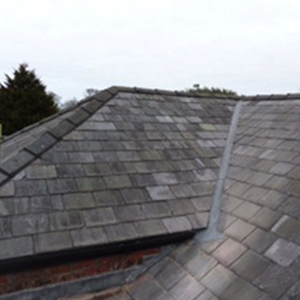 pitched slate roof