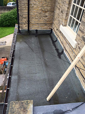 This old flat roof in southport was leaking