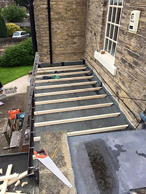 Replacing a flat roof in Southport