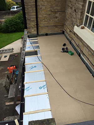 Repairing a flat roof in Southport