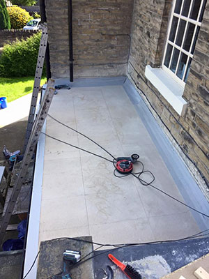 Replacing an old flat roof with GRP in Southport
