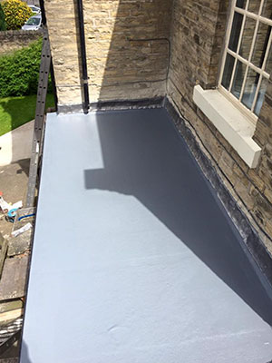 New flat GRP roof in Southport