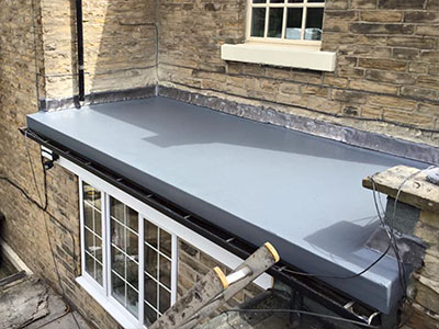 New GRP flat roof in Southport