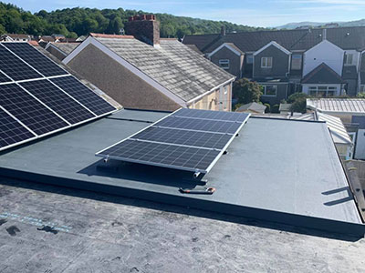 GRP Roofing with solar panels