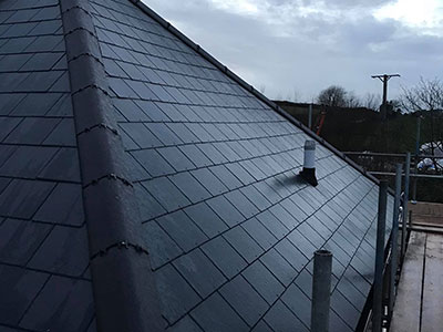 Marley Rivendale slate on a roof in Plymouth