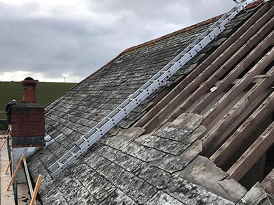 Repairing an old roof