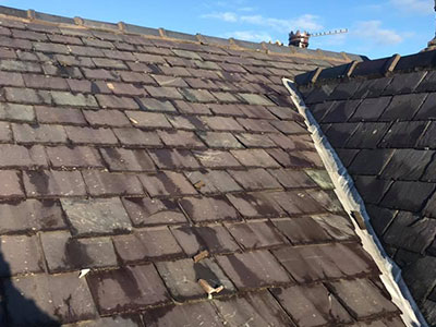 old tiled roof in prenton