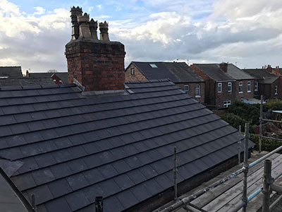 finished job by a roofer in prenton