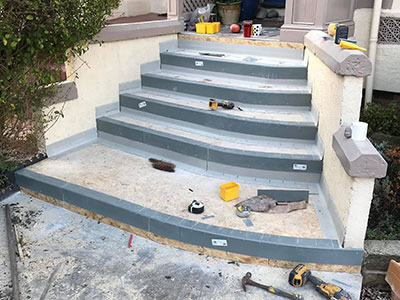 work begins on new steps in southport