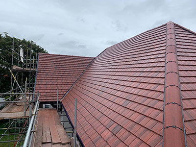 new red tiled roof in southport