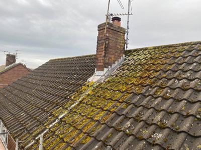 old tiled roof in burscough